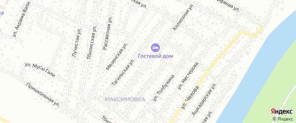 Колхозная улица на карте Уфы с номерами домов
