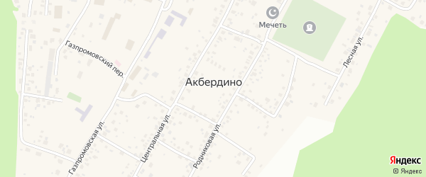 Улица Шаймуратова на карте села Акбердино с номерами домов