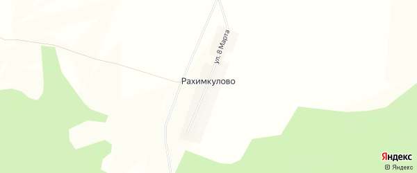 Карта деревни Рахимкулово в Башкортостане с улицами и номерами домов