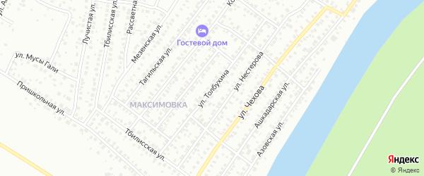 Улица Толбухина на карте Уфы с номерами домов