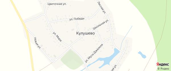 Улица М.Гафури на карте деревни Кулушево с номерами домов