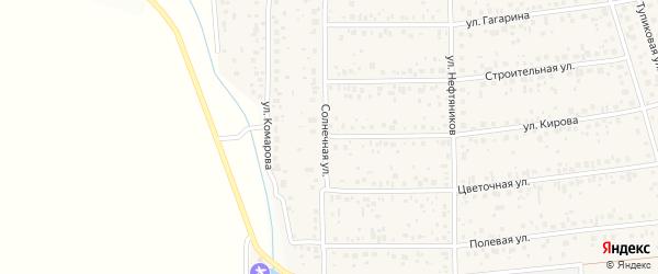 Солнечная улица на карте деревни Шмидтово с номерами домов