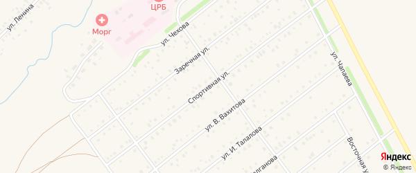 Спортивная улица на карте села Кармаскалы с номерами домов