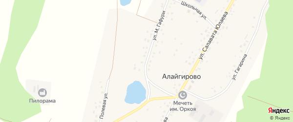 Улица М.Гафури на карте деревни Алайгирово с номерами домов