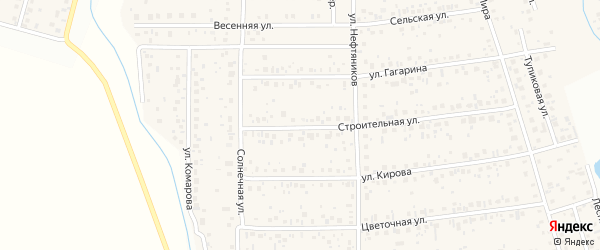 Строительная улица на карте деревни Шмидтово с номерами домов