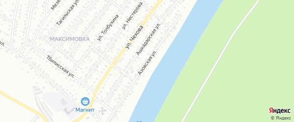 Азовская улица на карте Уфы с номерами домов