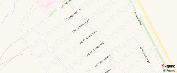 Улица В.Вахитова на карте села Кармаскалы с номерами домов
