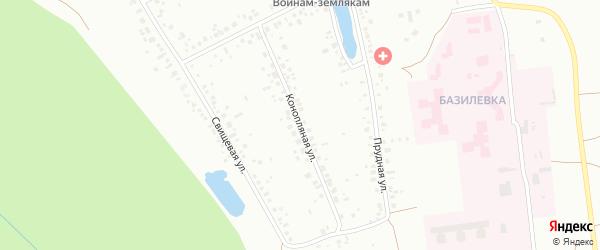 Конопляная улица на карте Уфы с номерами домов
