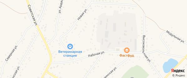 Рабочая улица на карте села Кармаскалы с номерами домов