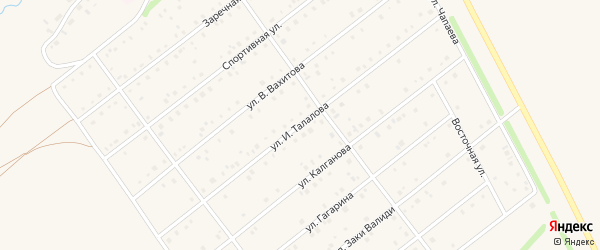 Улица И.Талалова на карте села Кармаскалы с номерами домов