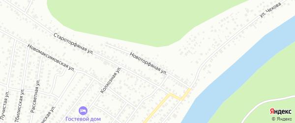 Новоторфяная улица на карте Уфы с номерами домов