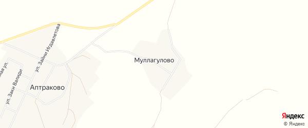 Карта деревни Муллагулово в Башкортостане с улицами и номерами домов