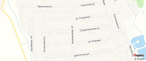 Улица Нефтяников на карте деревни Шмидтово с номерами домов