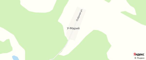 Карта деревни У-Мария в Башкортостане с улицами и номерами домов