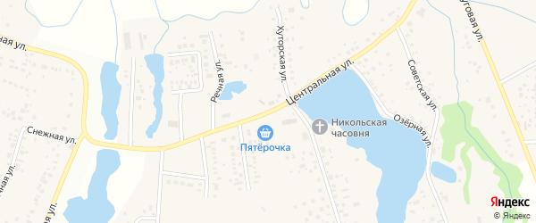 Центральная улица на карте деревни Шмидтово с номерами домов