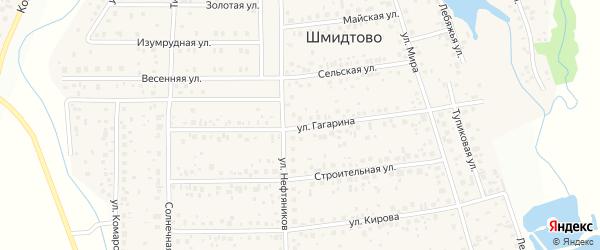 Улица Гагарина на карте деревни Шмидтово с номерами домов