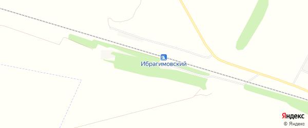 Карта деревни Разъезда Ибрагимово в Башкортостане с улицами и номерами домов