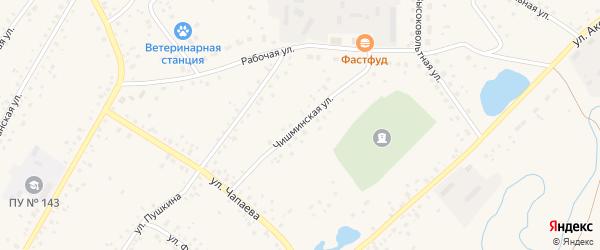 Чишминская улица на карте села Кармаскалы с номерами домов