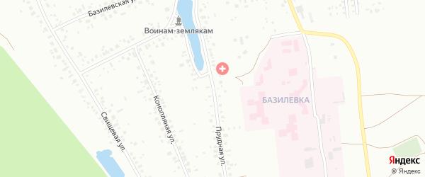 Прудная улица на карте Уфы с номерами домов