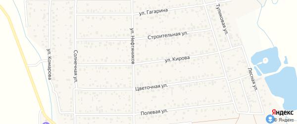 Улица Кирова на карте деревни Шмидтово с номерами домов