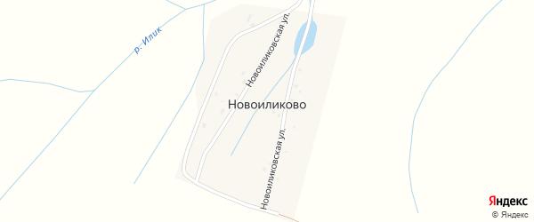Новоиликовская улица на карте деревни Новоиликово с номерами домов