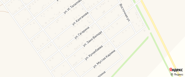 Улица Заки Валиди на карте села Кармаскалы с номерами домов