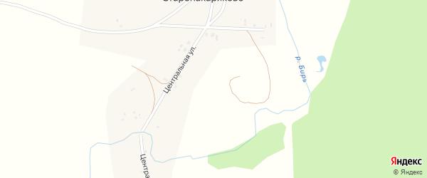 Российская улица на карте села Старонакаряково с номерами домов