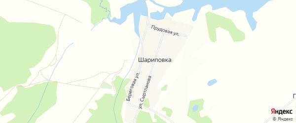 Карта деревни Шариповки в Башкортостане с улицами и номерами домов