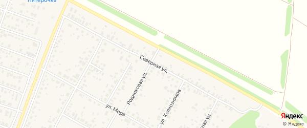 Северная улица на карте села Акбердино с номерами домов