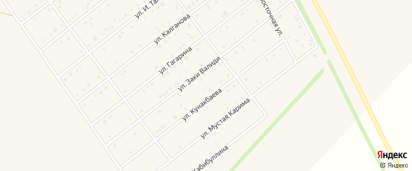 Улица Гагарина на карте села Кармаскалы с номерами домов