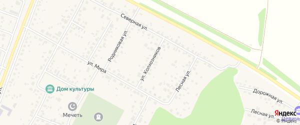 Улица Колхозников на карте села Акбердино с номерами домов