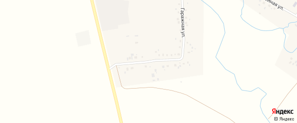 Гаражная улица на карте села Ахмерово с номерами домов