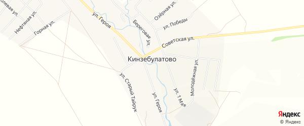 Карта села Кинзебулатово в Башкортостане с улицами и номерами домов