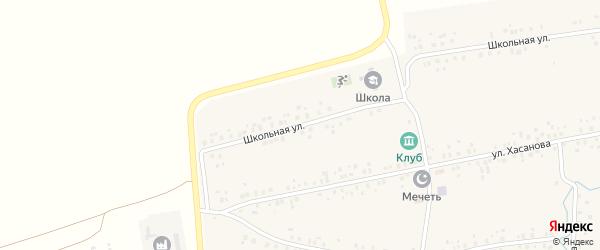 Школьная улица на карте деревни Канакаево с номерами домов