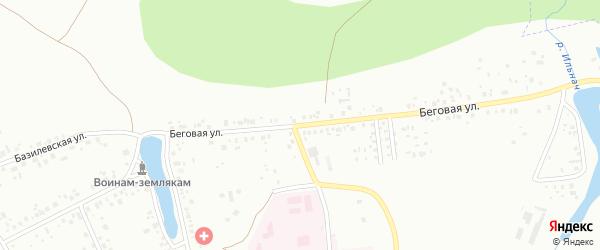 Беговая улица на карте Уфы с номерами домов