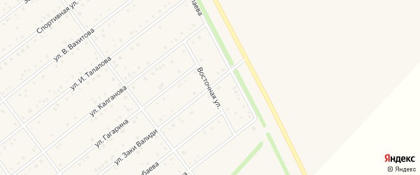 Восточная улица на карте села Кармаскалы с номерами домов