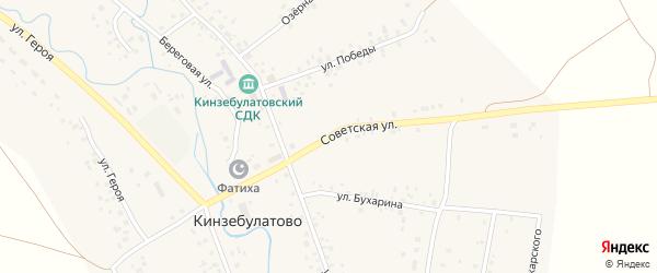 Советская улица на карте села Кинзебулатово с номерами домов