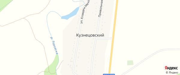 Улица Клавдии Меховой на карте Кузнецовского хутора с номерами домов