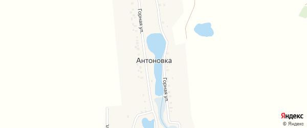 Горная улица на карте деревни Антоновки с номерами домов