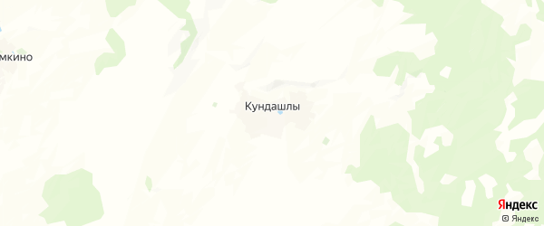 Карта Кундашлинского сельсовета республики Башкортостан с районами, улицами и номерами домов