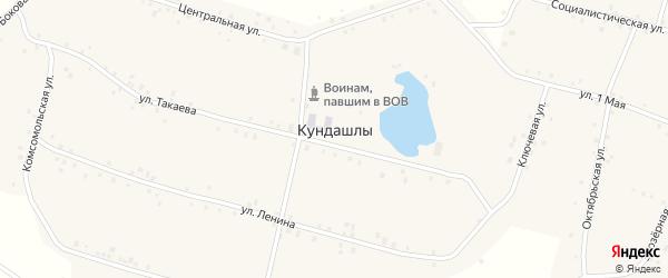 Боковая улица на карте деревни Кундашлы с номерами домов