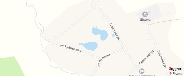 Улица Куйбышева на карте Новотроицкого села с номерами домов