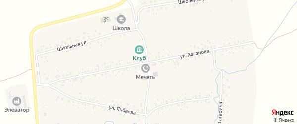 Улица Хасанова на карте деревни Канакаево с номерами домов
