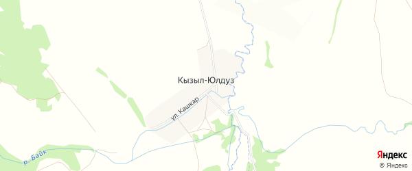 Карта деревни Кызыла-Юлдуза в Башкортостане с улицами и номерами домов