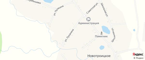 Улица Луканина на карте Новотроицкого села с номерами домов