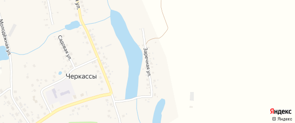 Заречная улица на карте села Черкасс с номерами домов