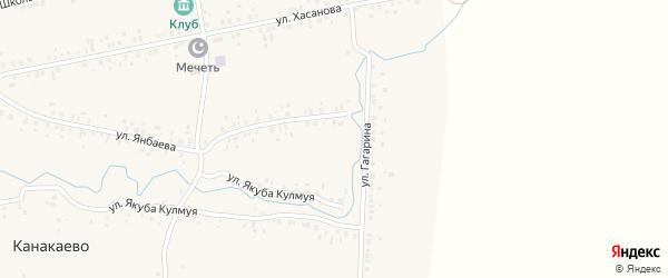 Лесная улица на карте деревни Канакаево с номерами домов