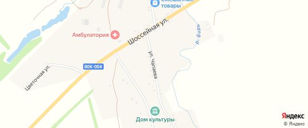 Улица Чапаева на карте деревни Рефанд с номерами домов