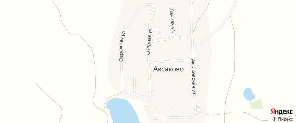 Озёрная улица на карте деревни Аксаково с номерами домов