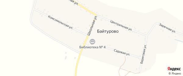 Школьная улица на карте деревни Байтурово с номерами домов
